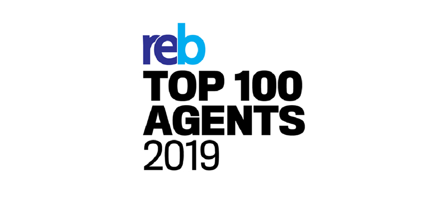 REB Top 100 Agents 2019 Ranking