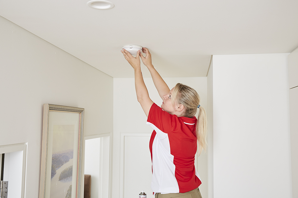Smoke alarms serviced by a professional company
