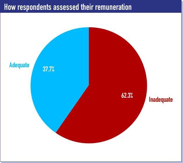 How respondents assessed their remuneration
