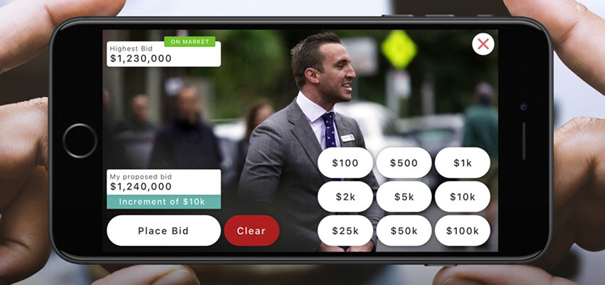Gavl real time auction app reb