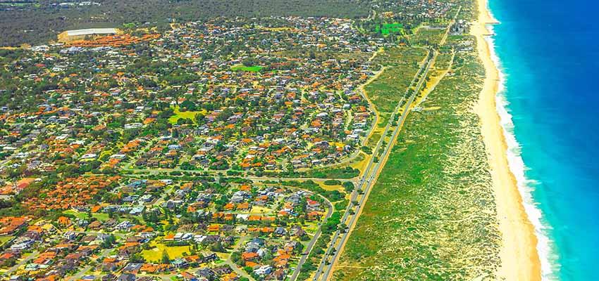 Perth aerial suburbs reb