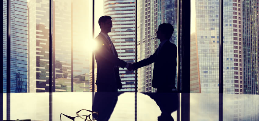 Appointment of new CEO, handshake
