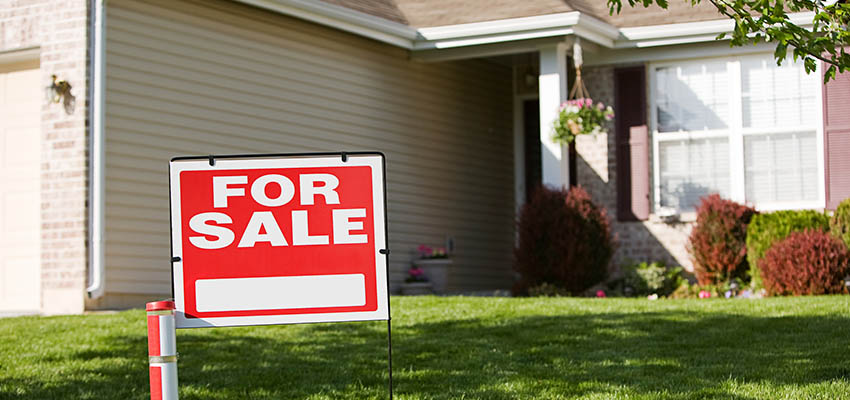 house for sale sign reb