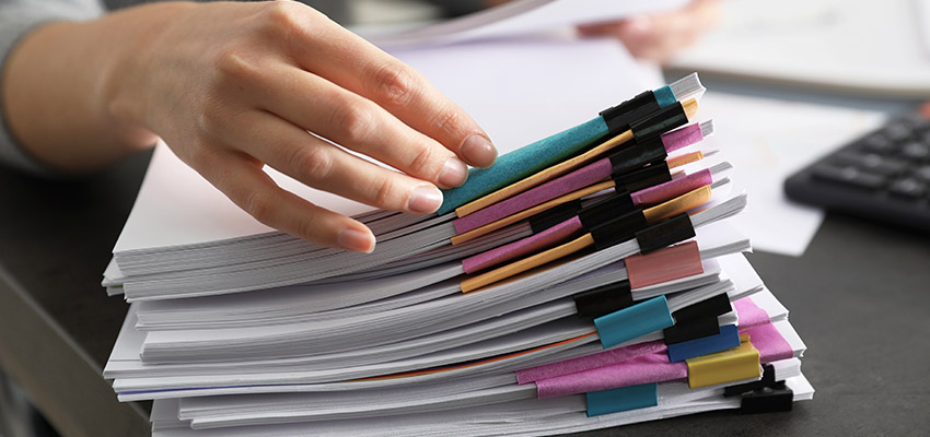 pile documents reb