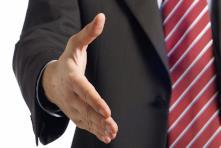 man in suit handshake