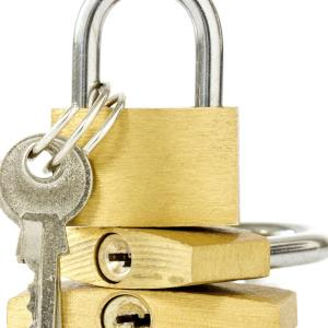 padlocks key three