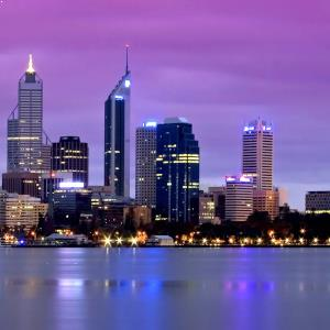 perth skyline evening