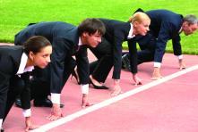 race start line suits