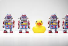 robots and duck