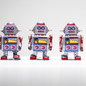 robots three in a row